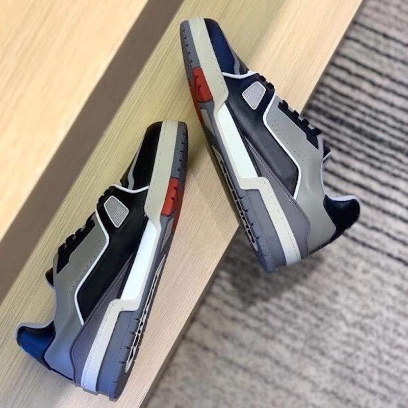 Erkek Kabartmalı Platformu Trainer Sneaker Tasarımcı Sneakers Süet Buzağı Deri Ayakkabı Kauçuk Koşucu Ayakkabı 17 Renkler En Kaliteli 268