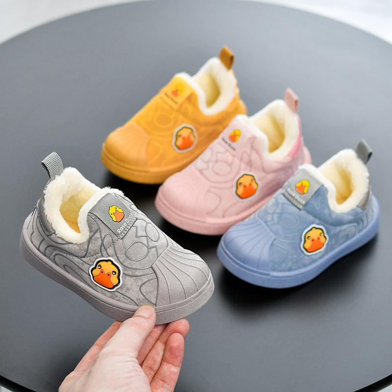 2020 Invierno Bebé niñas Botas de nieve Botas de nieve Niño Niño Botas de peluche para niños No resbalones Suave Inferior Niños al aire libre Niños Zapatos de algodón Q0112