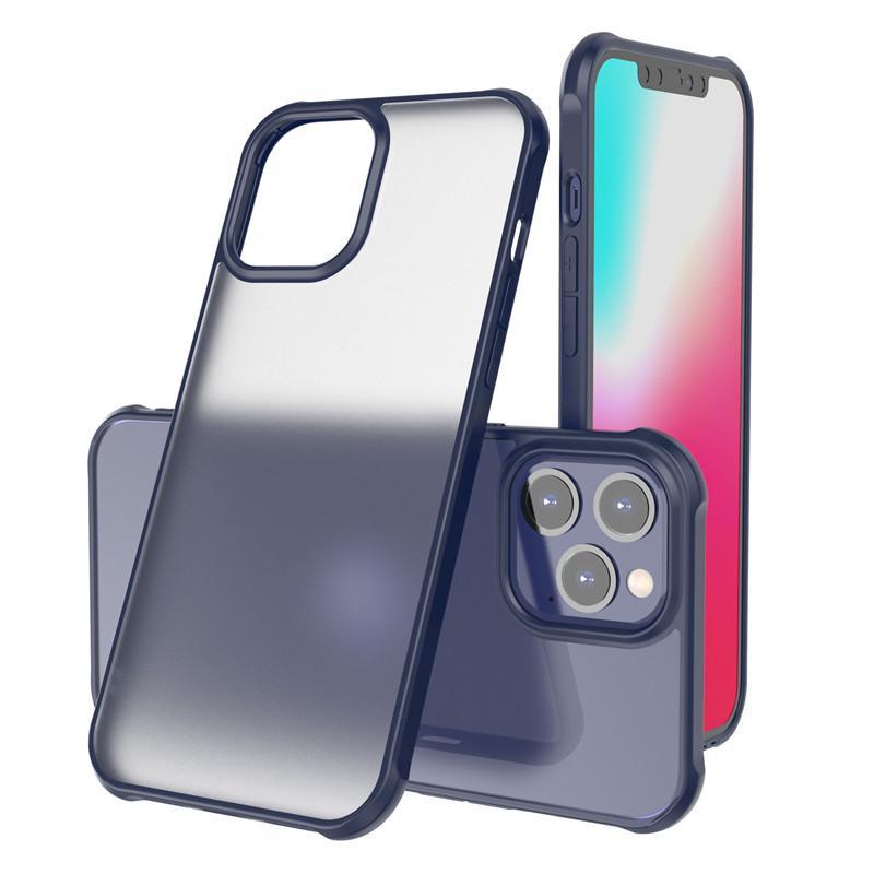 son coversion anti-goutte givré cas acrylique téléphone anti-choc pour iPhone 11 12mini PromMax 6.7inch xs max avec boîte de détail