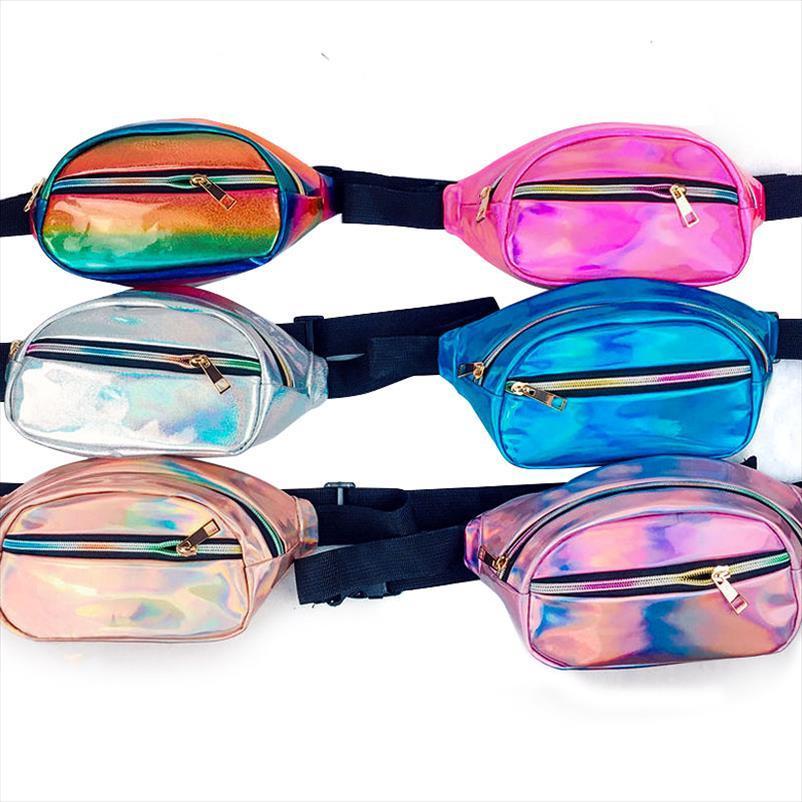 Womens Vendita Borsa olografica Borsa a vita calda Laser Fashion Bed Belt Borsa in vita Borsa Hologram Bag Funny Pack Bum Wunlw