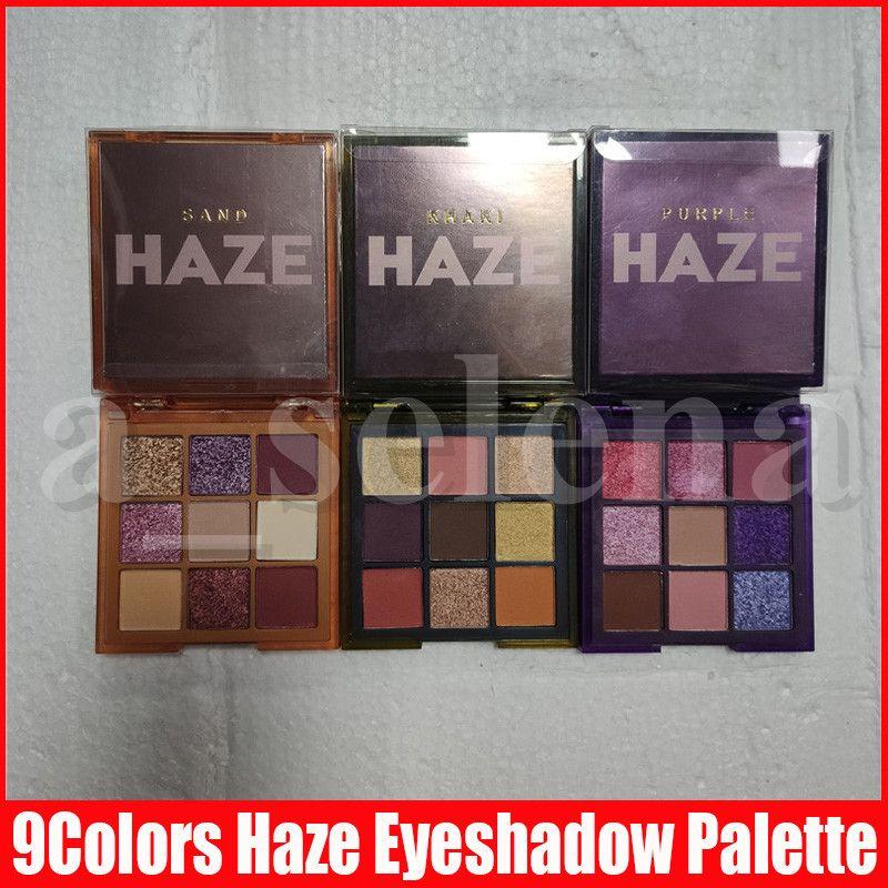 Trucco degli occhi Nuova Haze 9 ombretto di colori pressati tavolozza viola Sand Khaki luccichio opaca Ombretto 3 stili