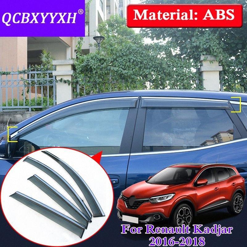 QCBXYYXH 4шт / много автомобилей Навес Shelter Window Visor Для Renualt Каджар 2016-2018 Sun Rain Shield Обложка автомобилей Стайлинг Внешняя крышка xtZc #