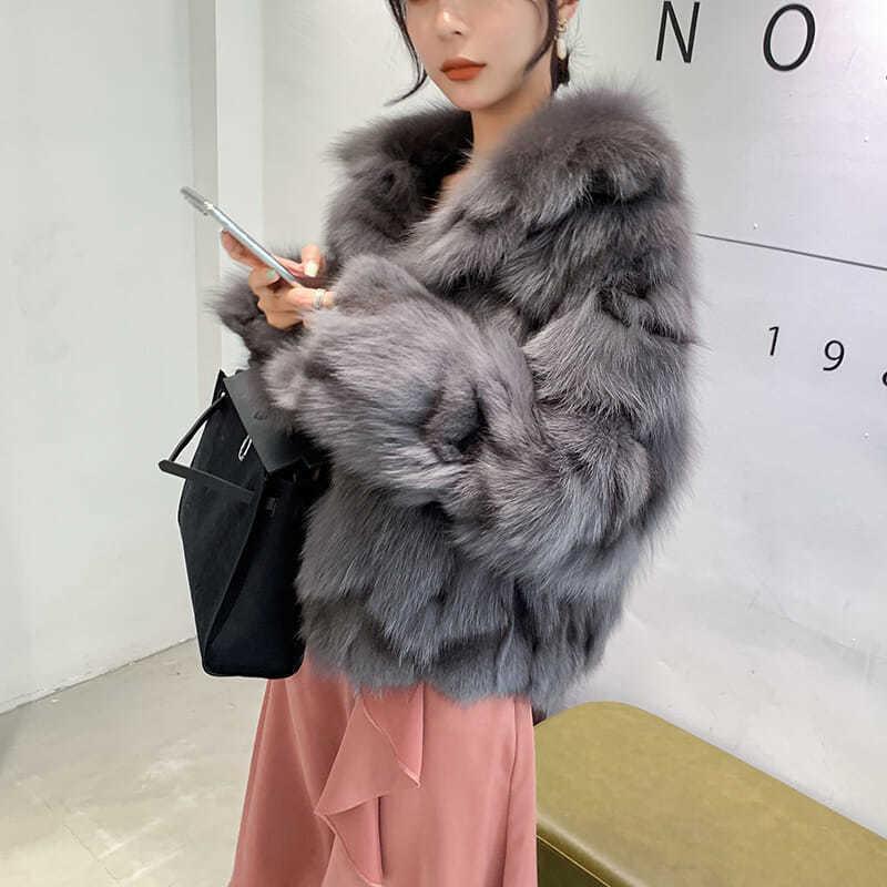 2021 mujeres otoño invierno elegante imitación piel abrigos femenino sólido manga larga chaquetas cortas dama casual suelto ropa exterior E2711