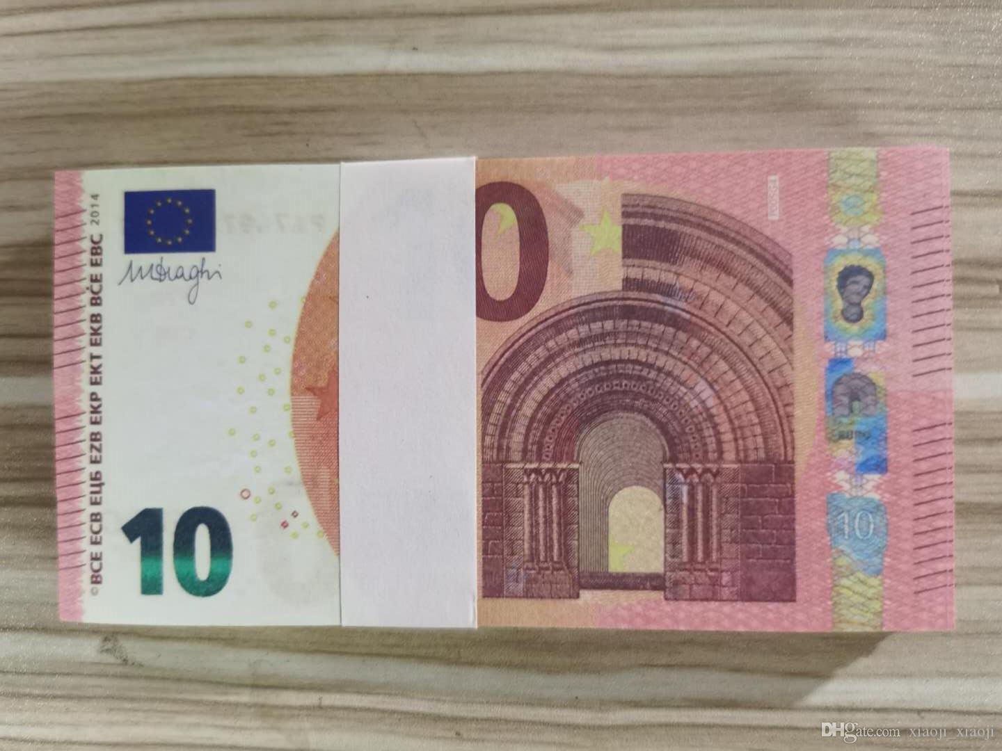 ENFANTS PROPENDURE DE L'ARGENT ADULLE Copie adulte Devise Euro Euro Euro Movie Special Jeu Special Bar Papier Papier faux jouet-076 Plavh