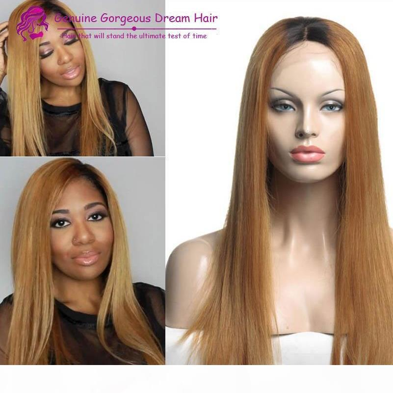 100% Capelli umani malesi di alta qualità possono essere tinti Ombre Glueless Completa parrucche in pizzo parrucche in pizzo parrucche anteriori in pizzo per le donne con i capelli del bambino