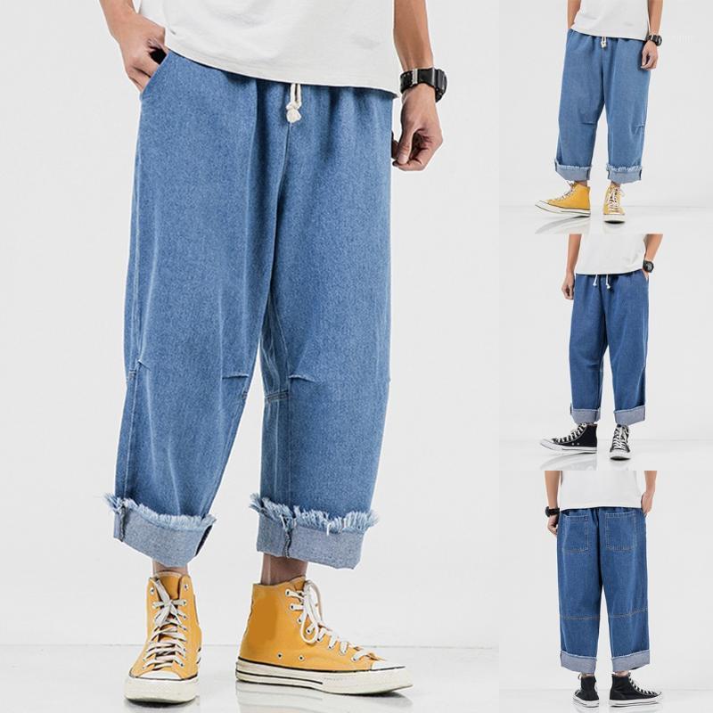 Erkek Yeni Stil Moda Casual Saf Kot Rahat Rahat Saf Renkli Pantolon Günlük Giysi Yeterince Dayanıklı 2021 # 351
