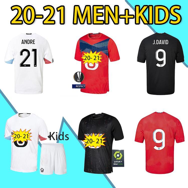 2021 LOSC LILLE Futebol Jerseys Third Away Kids Man 2021 Maillot de pé Osimhen Bamba 3rd Celik Homens Conjunto de Futebol