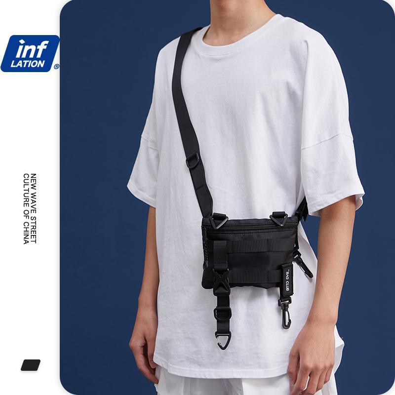 INFLATION Sac de taille Hommes Streetwear Hip HOP mode sac banane coton sac de ceinture Hommes 2020 Sac Voyage LJ200930