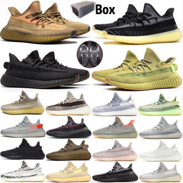 Top Quality 2020 Kanye West Cinder Lining Tail Light Sapatos Terra Deserto Sábio Preto Zebra 3M Reflexivo Oreo Homens Mulheres Correndo Tênis