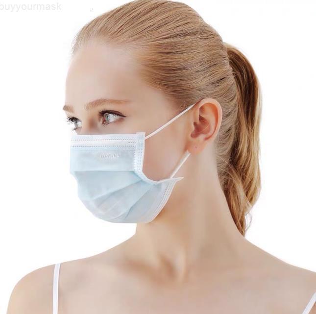 Фабрика Одноразовая маска для лица 3 слоя пылезащитный для лица Маски Защитная крышка Anti-Dust Одноразовая салон ушной полости рта маски