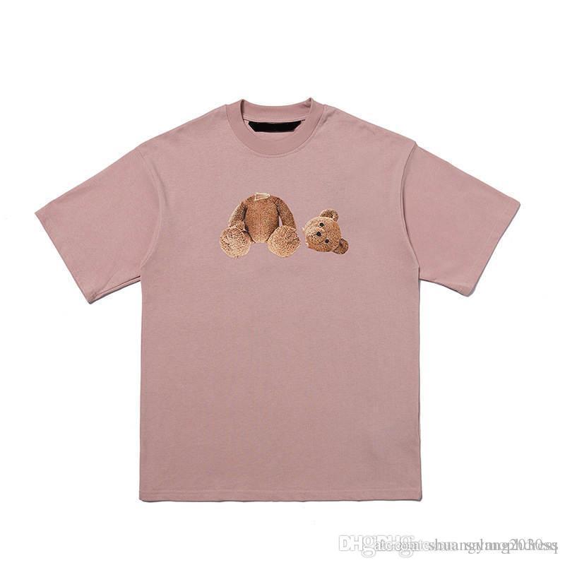 New Fashion Summer Bear and Letter Print Camicia per uomo e donna Unisex Camicia a maniche corte con maniche corte di buona qualità Tees di cotone T-shirt
