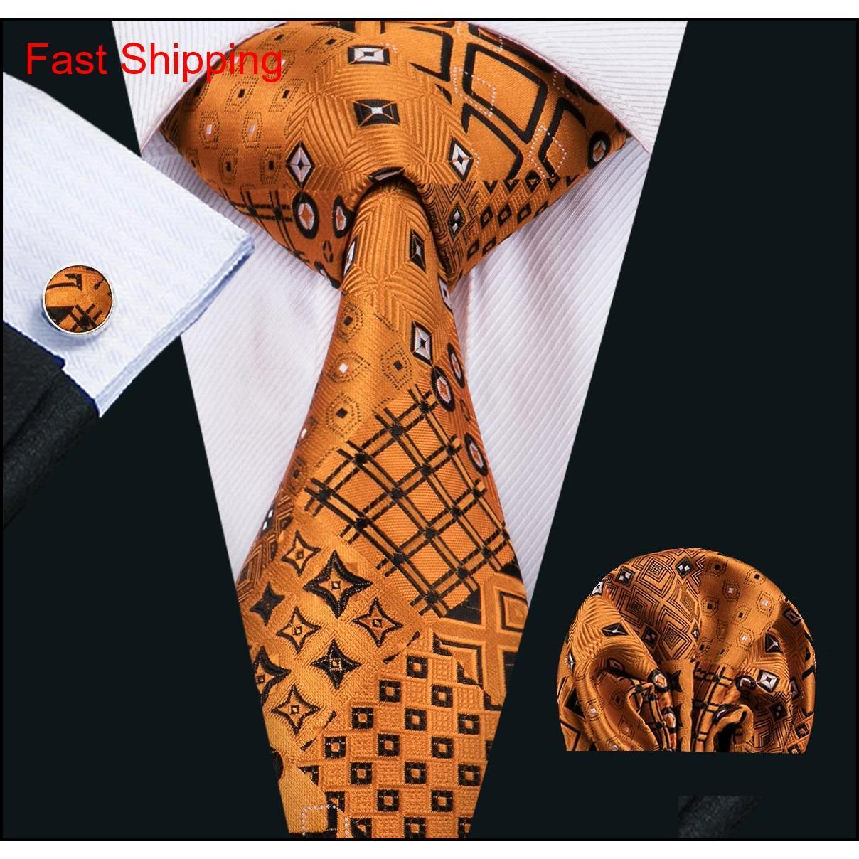 Moda uomo cravatta classci seta mens collo cravatta cravatta cravatta cravatta cravatta cravatta cravatta gemelli set jacquard tessuto riunione business regalo festa di nozze Sewkk