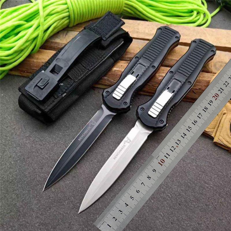 """Special Knife Benchmade Benchmade Satin Offerta 3300 Micro-Tech La doppia azione anteriore Auto (3.95 """"BM Pianura) 3310BK D2 Out Infidel Knife Sarc"""