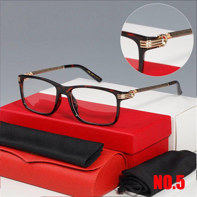 Mode Optische Rahmen Luxus Designer Optische Frames Gläser Frauen Brillen Männer Designer Brille Rahmen Klar Linsen Männer Brille