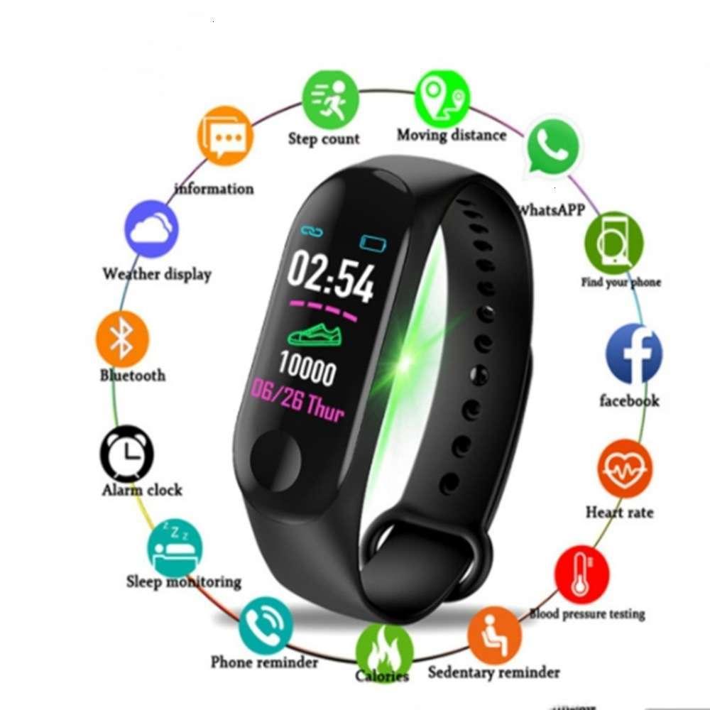 M3 Sports Heart Rate Monitor durante o sono IP67 Lembrete à prova d'água Lembrete Android Ios Smart Men's WA
