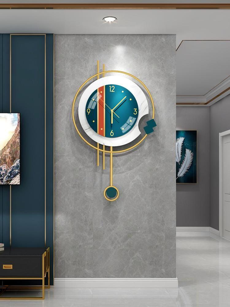 Настенные часы бесшумные золотые часы Nordic Design роскошный модный офис современный творческий поток Reloj Reed Home Decor SG50WC1
