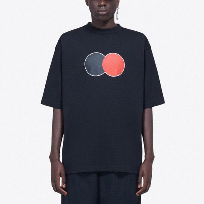 20SS 클래식 로고 문자 인쇄 티 남성 여성 캐주얼 간단한 느슨한 T 셔츠 하이 엔드 여름 반팔 하이 스트리트 티 패션 HFYMTX814