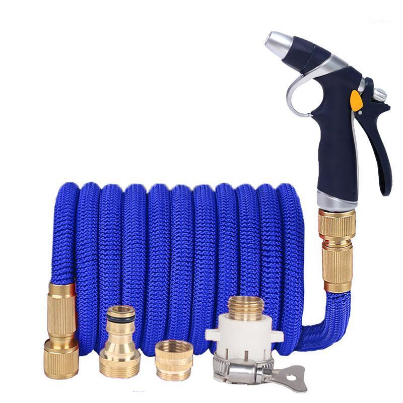 Высокое давление Расширяемая волшебная гибкая садовая шланг с распылительным пистолетом для полива автомойки сад водные трубы шланги ирригационные инструменты1