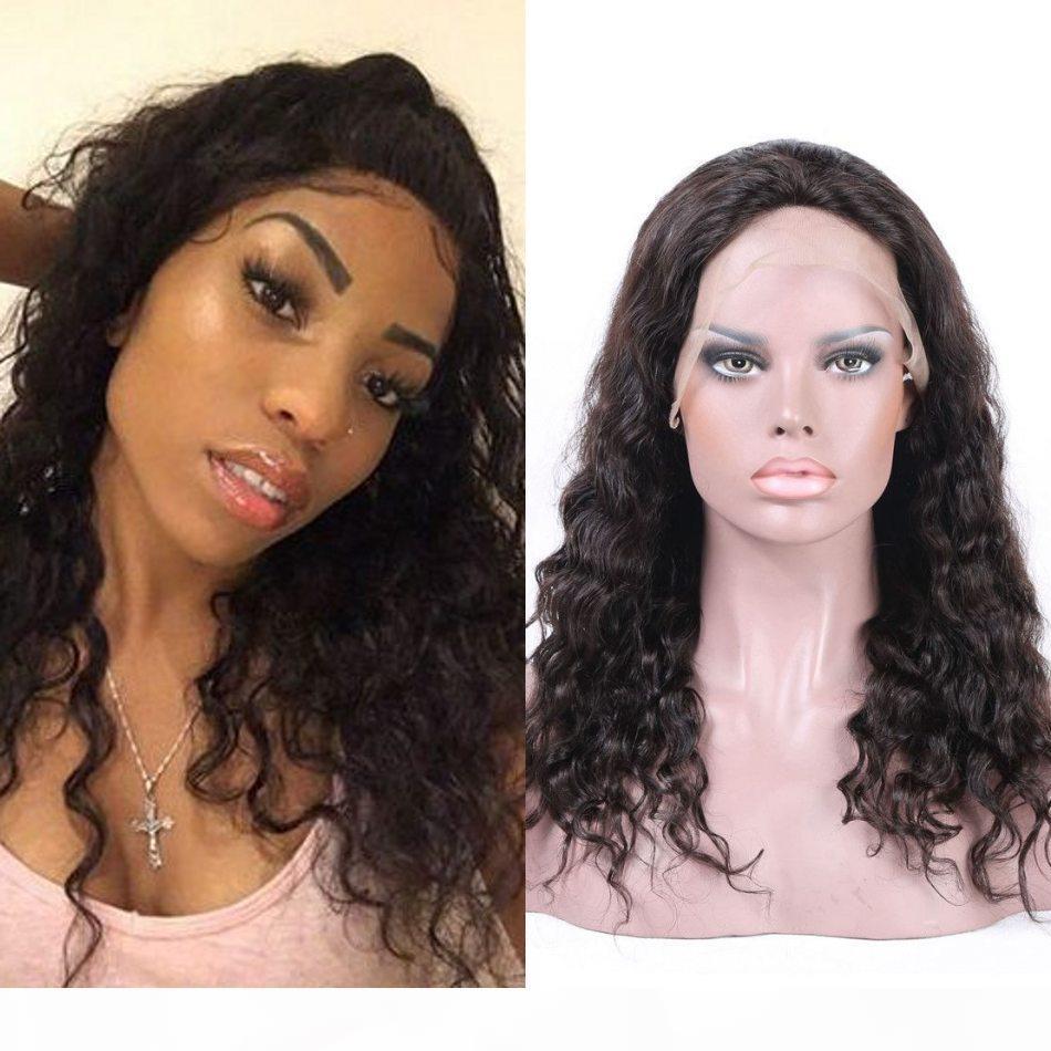 Cambodge déchaîne alternances dentelle perruques de cheveux humains pour les femmes noires Vierge cheveux avant de dentelle perruque avec Blanchis Nœuds