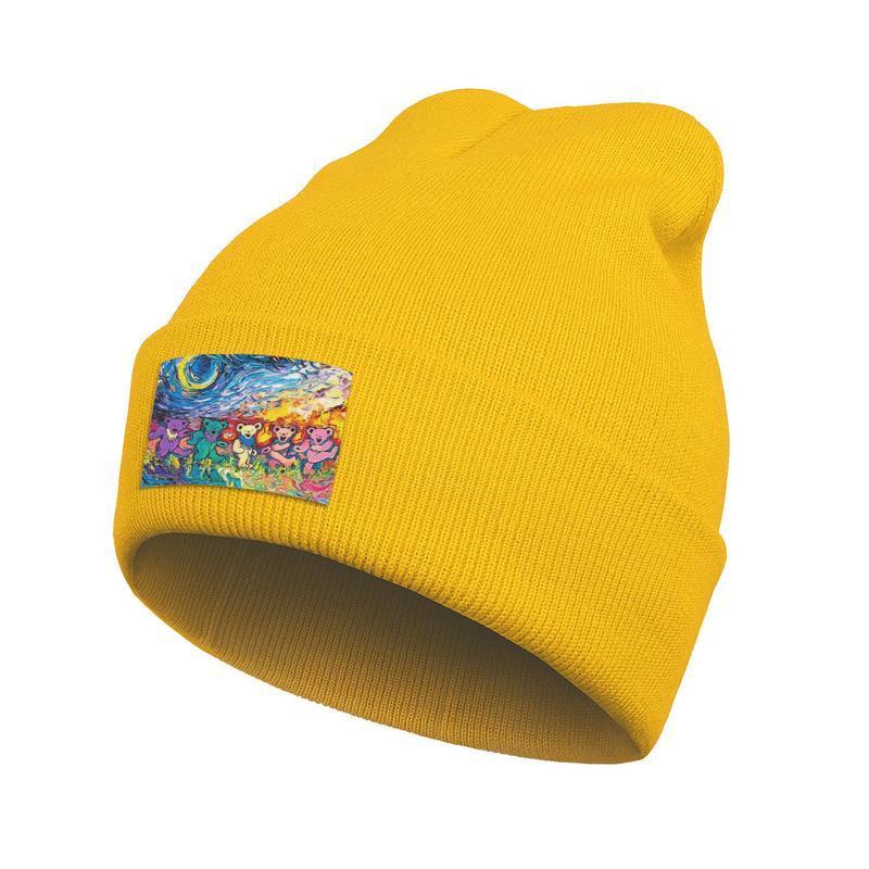 Unisex Fashion Watch Beanie Hat Grateful Dead Dancing-Bears Cuff Toboggan Dad Knitted Cap grateful dead Company Bears