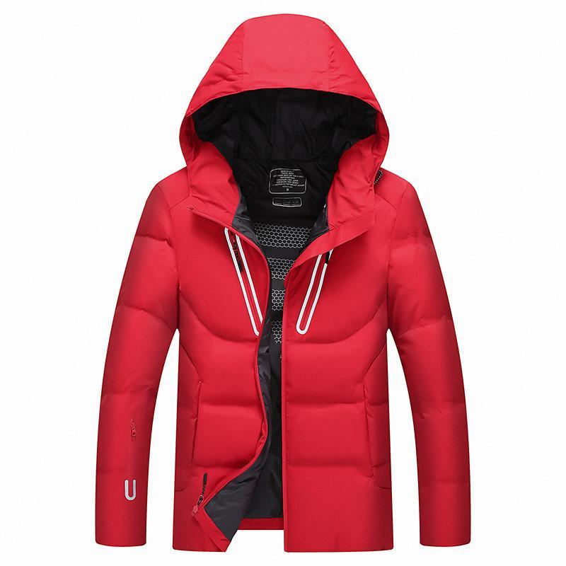 2019 Nuevo invierno Hombre con capucha Chaqueta con capucha de alta calidad Hombre Ropa moda abrigo masculino simple dobladismo