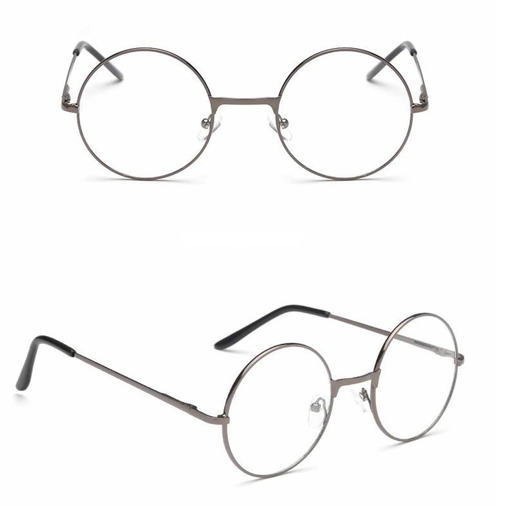 GoodVintage Retro Metallrahmen Klare Linse Mode Eyewear Brillen Schwarz Übergroßer Rundkreis Augengläsern9