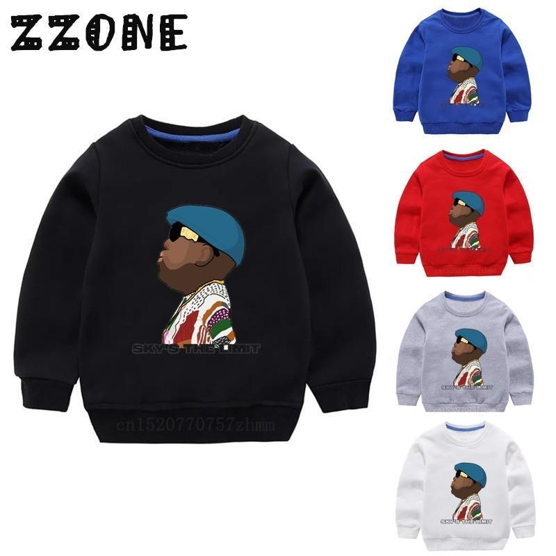 Kinder Biggie Hoodies Kids notorious Big Sweatshirts Baby Baumwolle Pullover Tops Mädchen Jungen Herbst Kleidung, Kyt456 201126