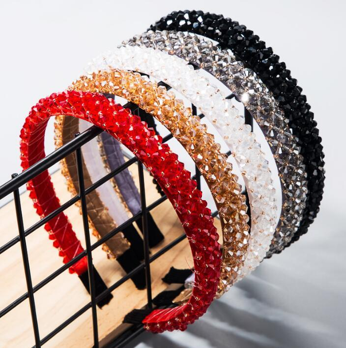 New Girl Fashion Simple Crystal Rhinestone Fascia perline intrecciata per capelli intrecciati per capelli per capelli barocchi fasce per le donne accessori per capelli