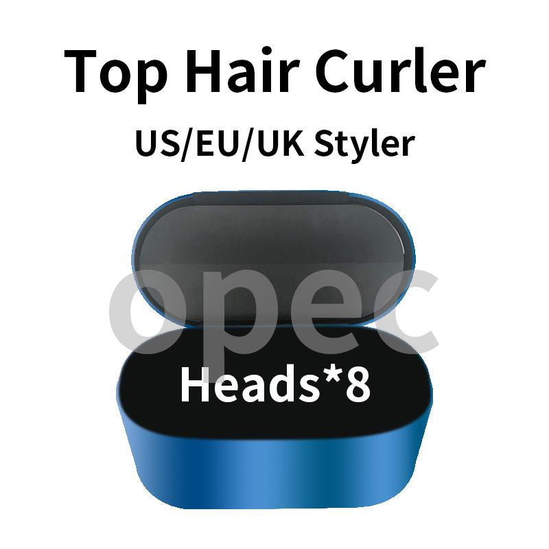 2021 Air Commercy Rap Multifunktions-Haar-Styling-Gerät Haar-Curler Automatisches Curling-Eisen 8 Köpfe Geschenkbox