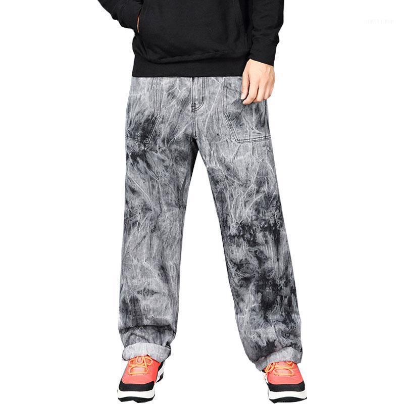 Hombre recto Denim Pantalones de carga Biker Jeans Hombres Haggy Flow Foot Grey Jeans para hombres Tamaño 30-44 461