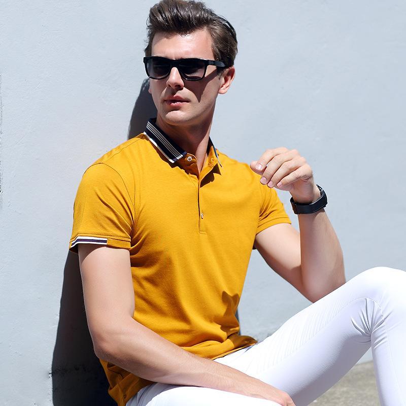 MRMT 2018 marca T-shirt dos homens novos do verão de manga curta gola cor sólida Tops T-shirt ocasional dos homens