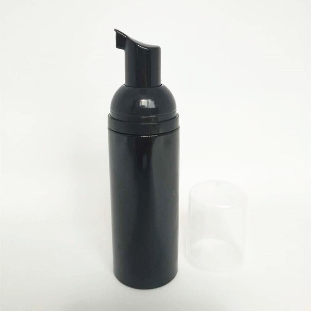 12PS 60мл черный Пенопласт насос Refillable Empty Косметические бутылки хлещет Cleanser мыла Шампунь бутылку с золотой