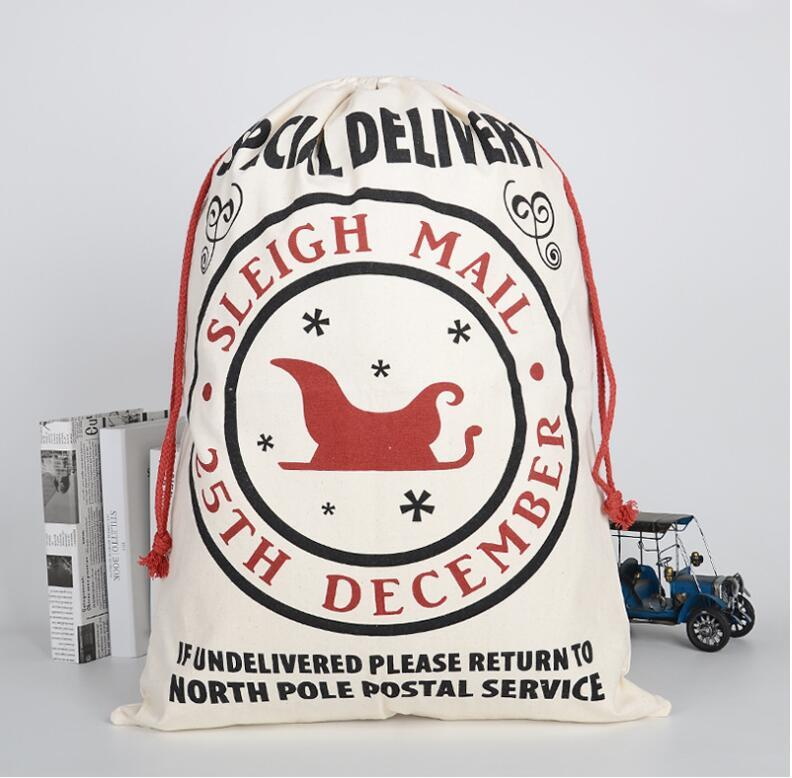 Christmas Gift Bag Sack Drawstring Santa 2020 New Arrival Claus Storage Candy Bag Large Christmas Gift