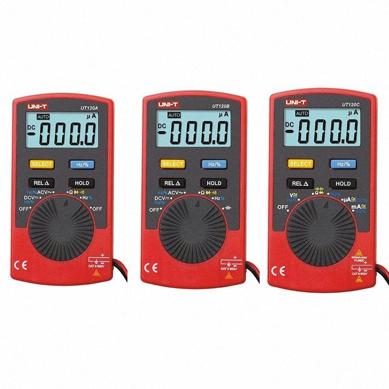 UNI-T UT120A UT120B UT120C Digital-Multimeter 4000 Zähler-Anzeige Auto Range Multitester DC Voltage Meter Tester Multimeter ty6L #