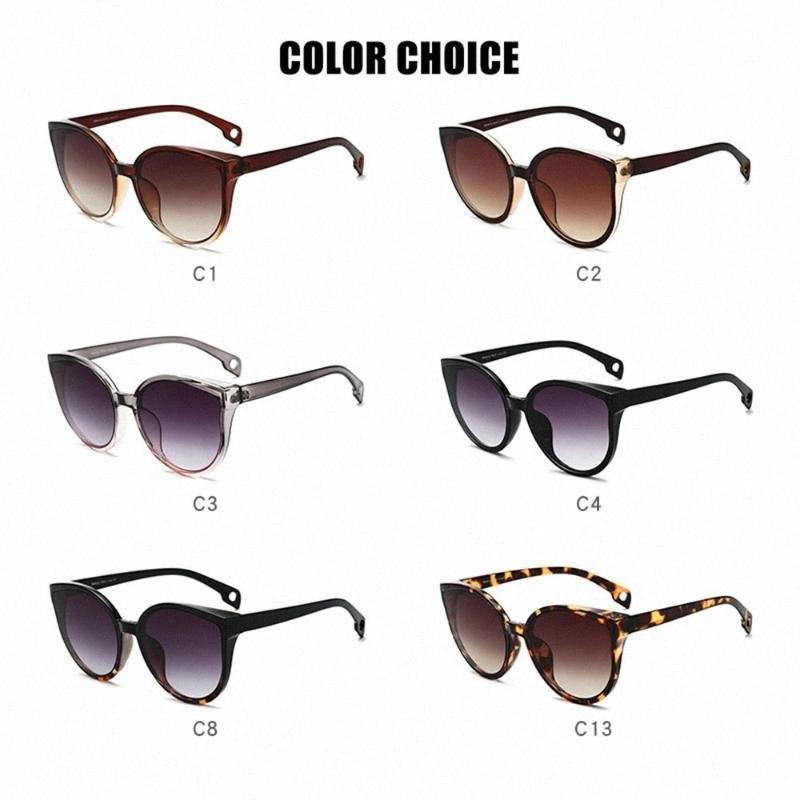 Mode Cat Eye Sunglasses Femmes Hommes Vintage Dégradé Lunettes rétro Lunettes de soleil Femme Lunettes UV400 Fashion Drive extérieure KZZn #