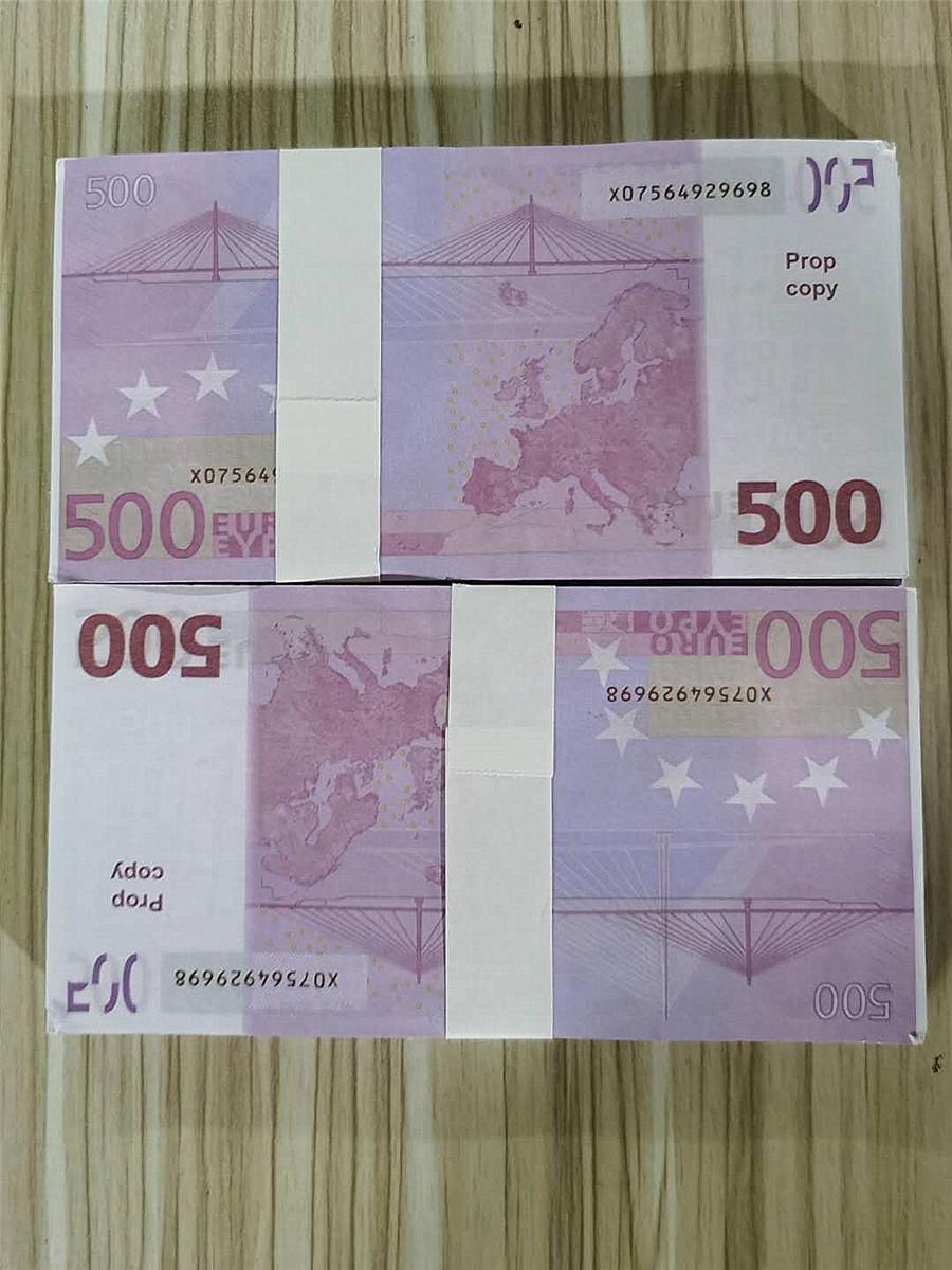 500 EUR colore simulazione banconota Bar puntelli 100 pezzi professionale / bag vendita calda 10