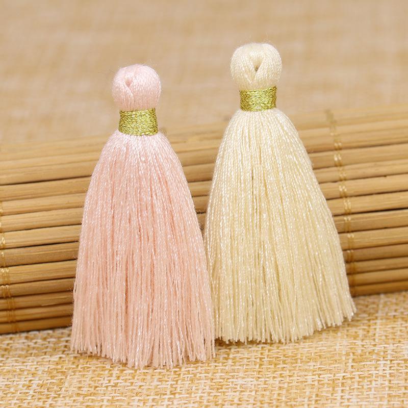 30pcs doré soik tisselle pendentif bricolage bricolage artisanat robe rideaux décor accessoires boucles d'oreilles bijoux composants h jllfac