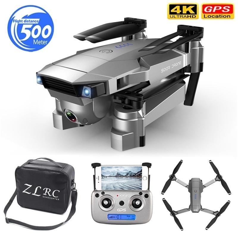 Heißer Verkauf Drohne 4k HD Doppelkamera GPS Smart Folgen Weitwinkel Anti-Shake 5g Wifi FPV RC Quadcopter faltbar 50x Zoom 201221