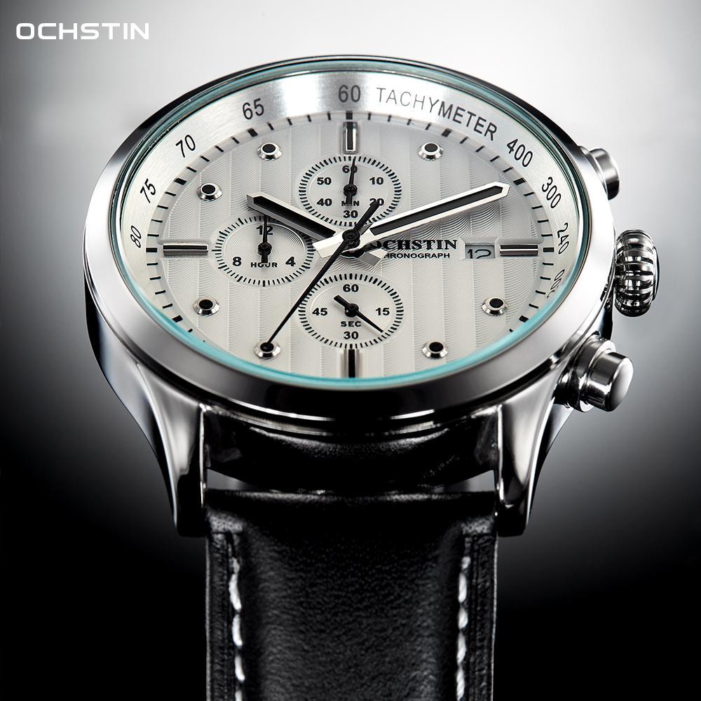 Watches Mens 2020 Luxury Top Brand OCHSTIN Sports Waterproof Date Chronograph Quartz Wristwatch ClockQ0108
