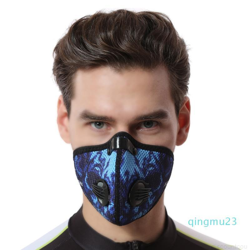 Windp anti staub aktivierte maske fahrrad filter kohlenstoff staubfestes training gesicht mit maske macka sport radfahren radfahren radfahren pcgia ivwja