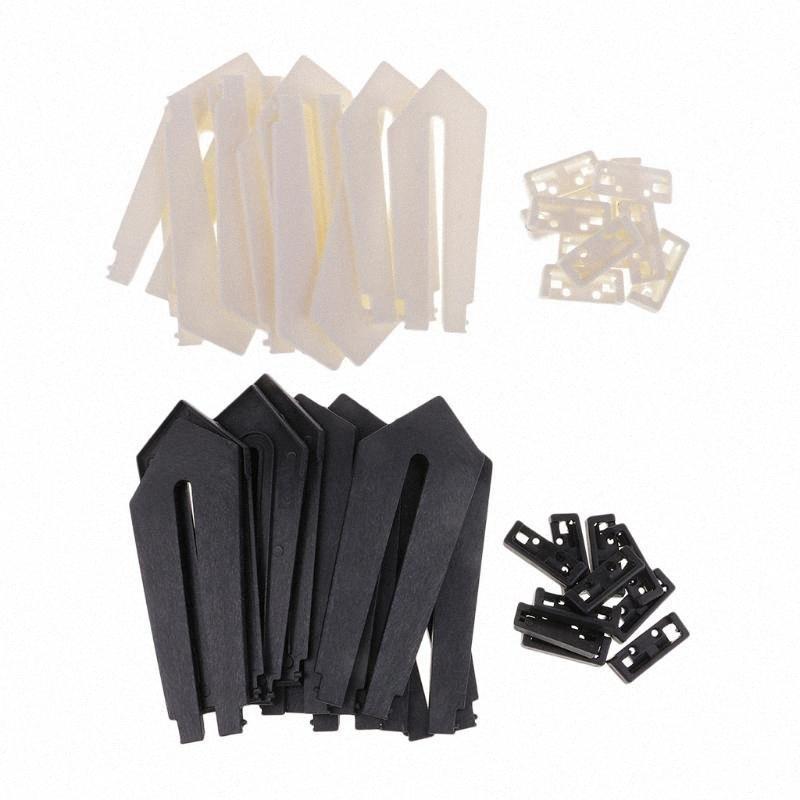 DIY إطار الصورة، و 10 قطعة من البلاستيك السيف على شكل صورة إطار الصورة حامل دعم العرض الحوامل حامل (الأسود والأبيض) mwCH #
