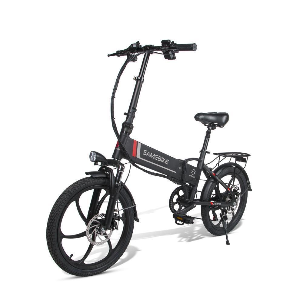 20 inç Samebike 20LVXD30 Katlanır Elektrikli Bisiklet Elektrikli Bisikletler 350 W 48 V Maksimum Hız 35km / H Yetişkinler Elektrikli Bisiklet Scooter