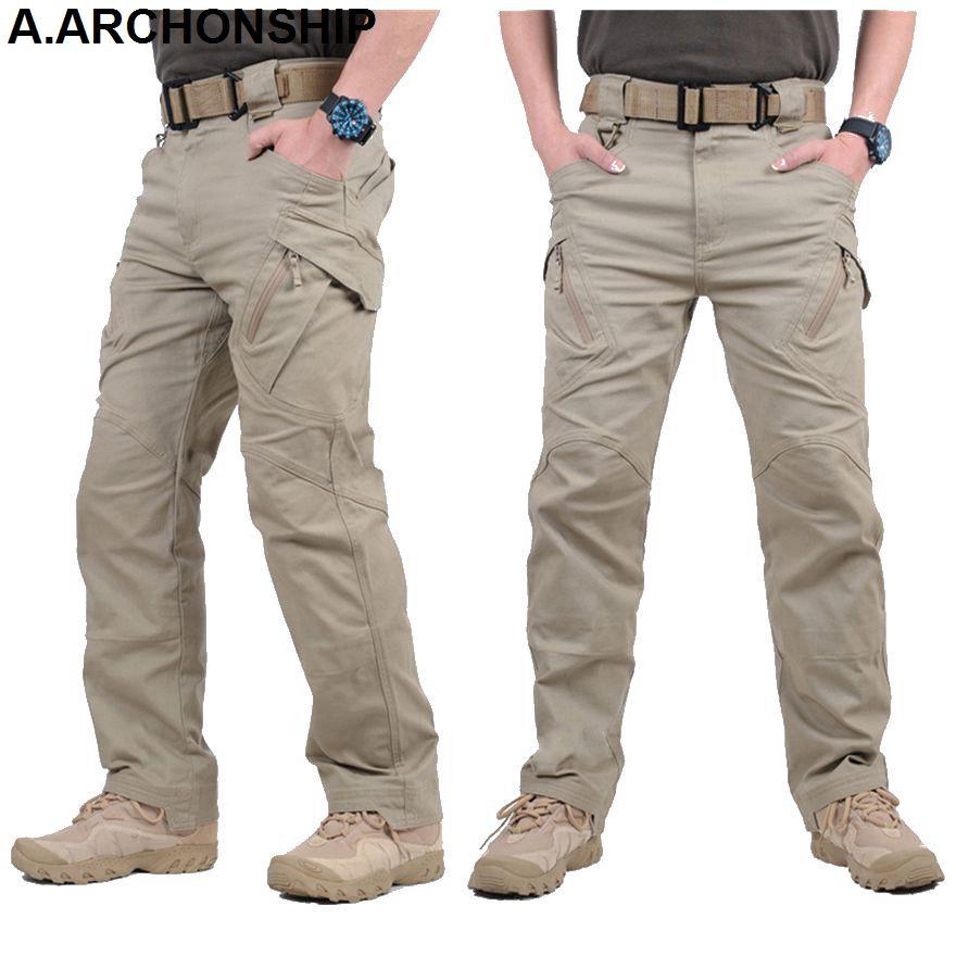 IX9 II Men Militar Pantalon tactique combat Pantalon SWAT armée pantalon militaire Hommes Cargo extérieur Pantalons PANTALONS coton LJ201007
