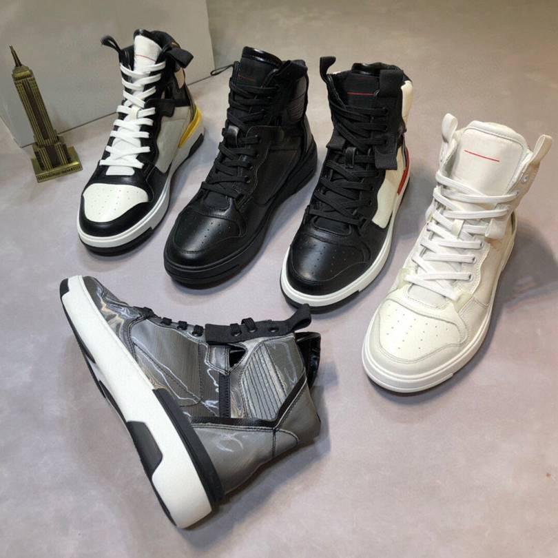 Новые Мужчины Повседневная Обувь Мода Высокая Верхняя Повседневная Обувь Кожаная Наружная платформа Повседневная Обувь Высокое качество с коробкой Size38-45