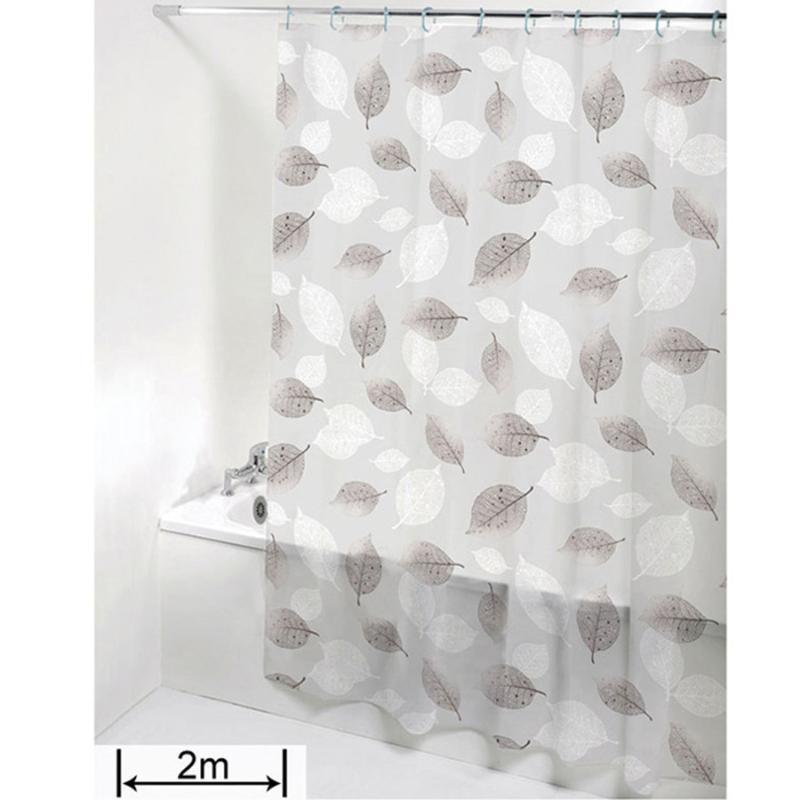 очистить занавеску стержень вкладыш Крючки для ванной комнаты шторы для душа листьев плесени устойчивы