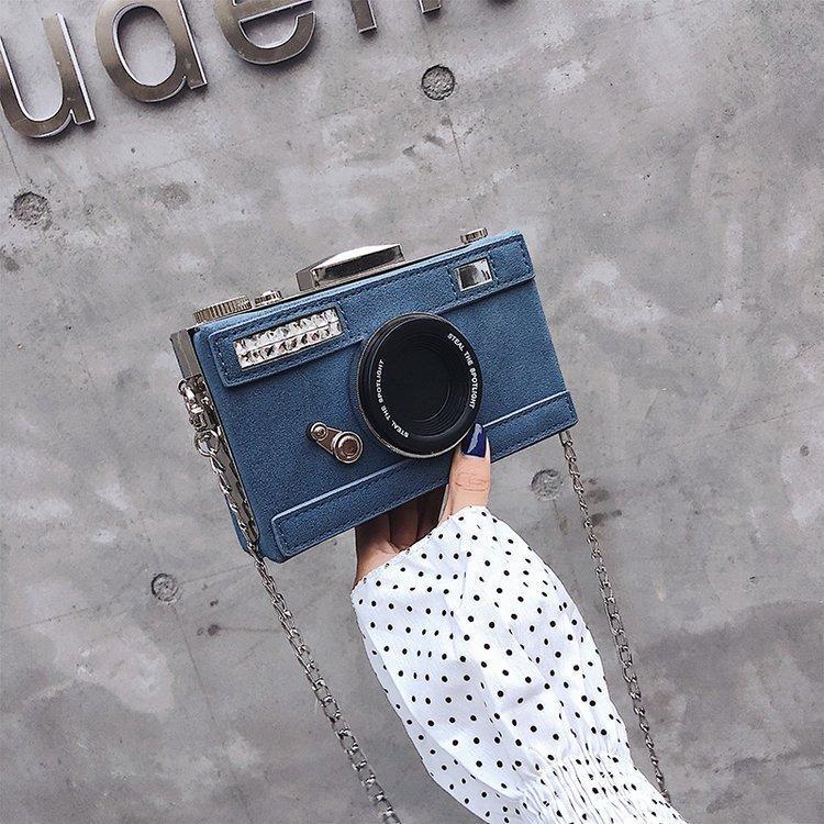 Сумки на плечо Персонализированные дизайн мода камеры формы сцепления нубук сумка дамы повседневный мини посыльный кошелек