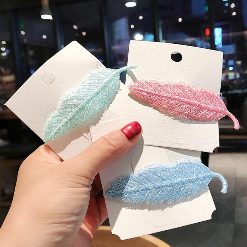 Feuille coloré préformées pour femmes Clips Cute Girls Clamp Barrettes Couvre-chef Coiffe Ornements style Accessoires cheveux