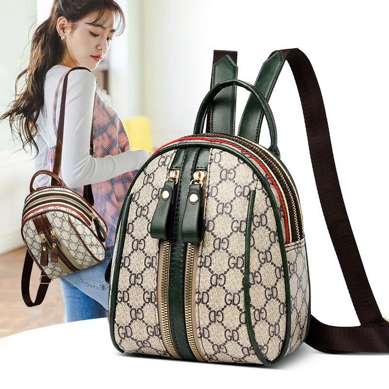 2020 New-Bag-Stil-Frauen-Schultertasche Mini Rucksack Mode Western Stil Schultasche Sommer-Studenten