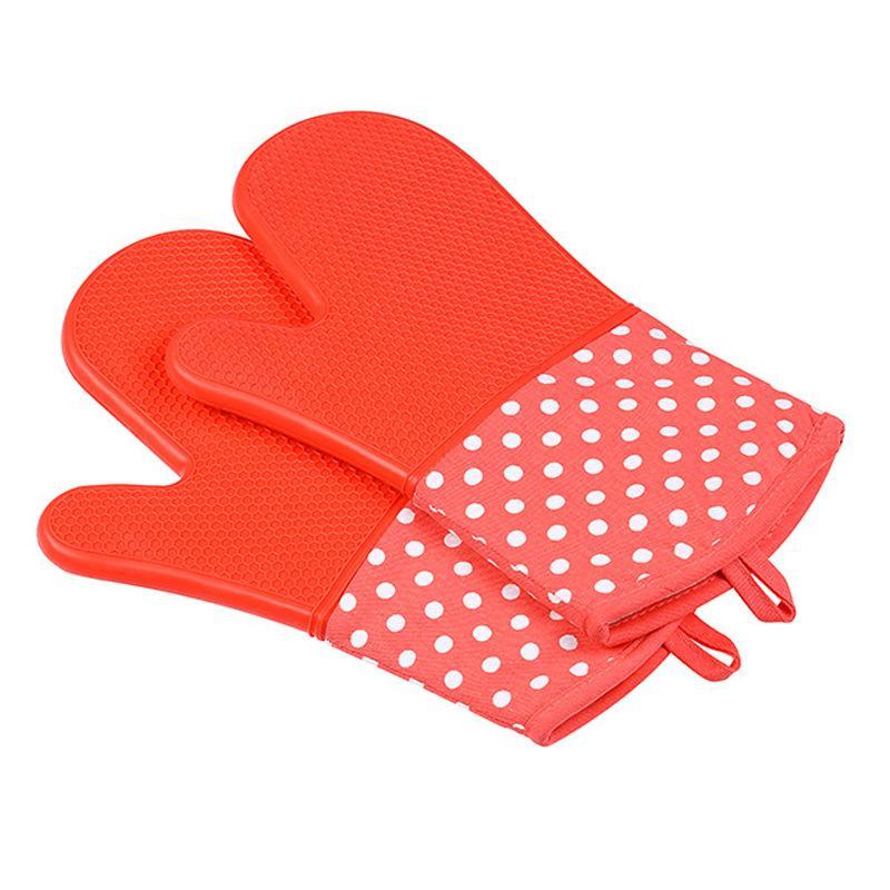 Ofen Silikon Wasserdichte Handschuhe Mikrowellenofen Mitts rutschfeste Wärmebeständigkeit Backformen Küche Kochen Grill BBQ Werkzeuge DWA1745