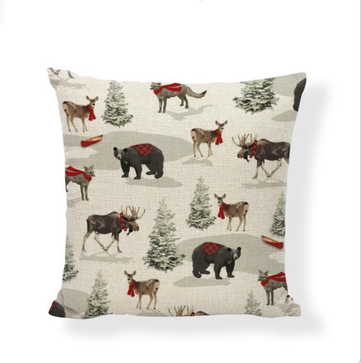 Yastık Kılıf Noel Yastık Noel ağacı Atma Yastık Kılıf Kırmızı Otomobil Baskı Vaka Koltuk Couch Yastık Kapak Noel Dekorasyon NWA2275 Kapaklar